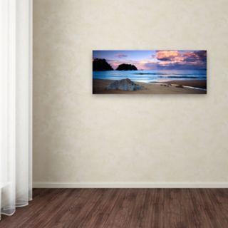 Trademark Fine Art Kaiteriteri Sunset Canvas Wall Art