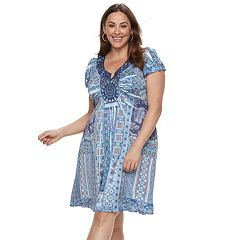Plus Size World Unity Medallion Dress