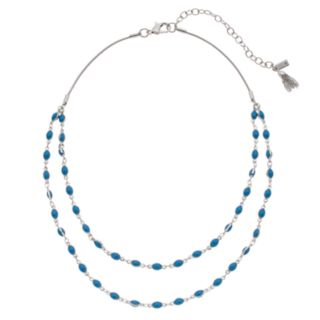 Simply Vera Vera Wang Blue Double Strand Necklace