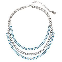 Simply Vera Vera Wang Teal Multi Strand Necklace