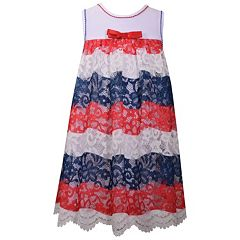 Girls 7-16 Bonnie Jean Americana Lace Dress