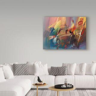 Trademark Fine Art Garden Abstract Canvas Wall Art