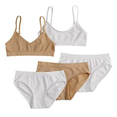 Girls 7-16 Maidenform Seamless Bras & Hipster Panties Set
