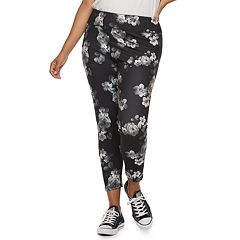 Juniors' Plus Size SO® Floral Yoga Ankle Leggings