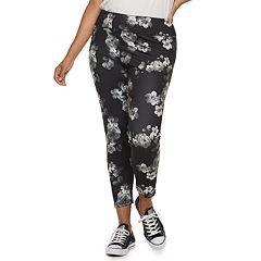 Juniors' Plus Size SO® Floral Yoga Ankle Leggings