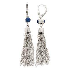 Simply Vera Vera Wang Blue Simulated Crystal Tassel Earrings