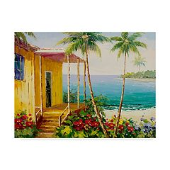 Trademark Fine Art Key West Villa Canvas Wall Art
