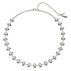 Simply Vera Vera Wang Blue Simulated Crystal Collar Necklace