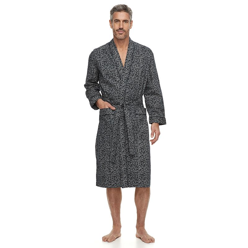 new list outlet boutique 60% clearance Big & Tall Residence Sateen Kimono Robe, Men's, Size: XL Tall, Black