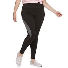 Juniors' Plus Size SO® Colorblock Mesh Yoga Leggings
