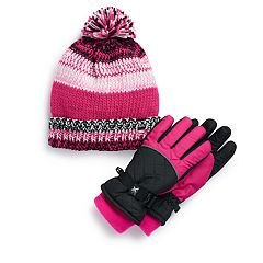 Girls 4-16 ZeroXposur Riley Hat & Gloves Set