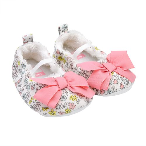 Baby Girl Carter's Floral Mary Jane Crib Shoes