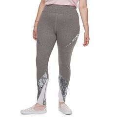 Juniors' Plus Size SO® Tie-Dye Colorblock Mesh Spliced Leggings
