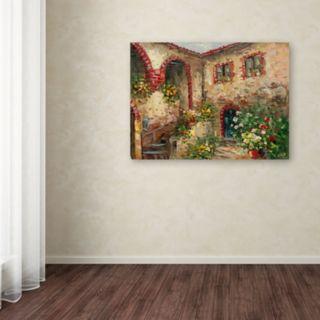 Trademark Fine Art Tuscany Courtyard Canvas Wall Art