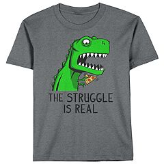 Boys 8-20 Struggling T-Rex Tee