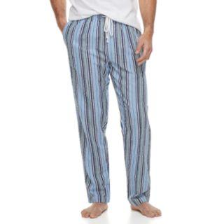 Big & Tall Residence Summer Shells Striped Seersucker Lounge Pants