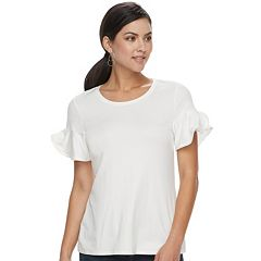 Women's Apt. 9® Beaded Flutter Tee