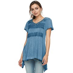Women's World Unity V-Neck Lace Front Tee