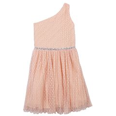 Girls 7-16 Speechless Asymmetrical One Shoulder Pleated Dress