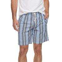 Big & Tall Residence Summer Shells Striped Seersucker Lounge Shorts