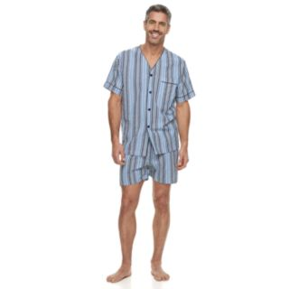 Big & Tall Residence Summer Shells Striped Seersucker Pajama Set