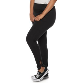 Juniors' Plus Size SO® Side Slit Yoga Leggings