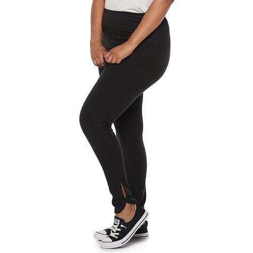 332c50bf5d2 Juniors  Plus Size SO® Side Slit Yoga Leggings