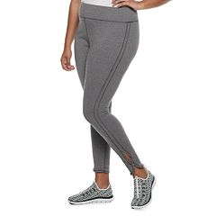 Juniors' Plus Size SO® Side-Slit Yoga Leggings