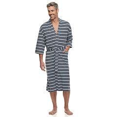 1baf79fa8b Men s Residence Striped Jersey Knit Kimono Robe