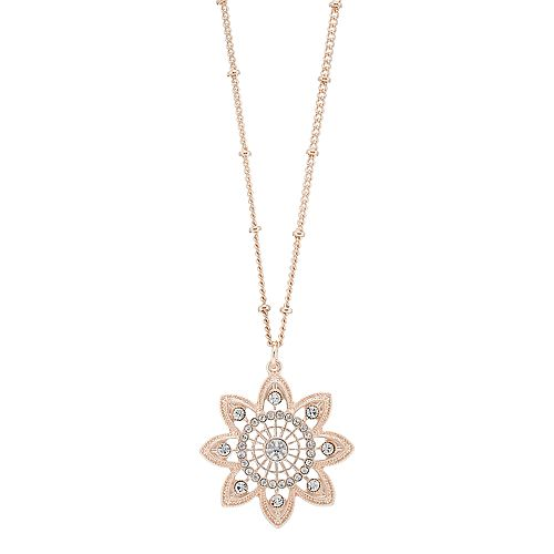 LC Lauren Conrad Simulated Crystal Flower Pendant Necklace
