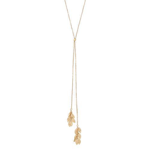 b0d81f683dcba LC Lauren Conrad Leaf Cluster Y Necklace