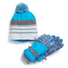 Girls 4-16 ZeroXposur Kim Hat & Gloves Set