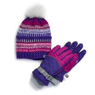 Girls 4-16 ZeroXposur Morrilyn Hat & Gloves Set