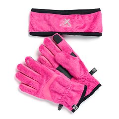 Girls 4-16 ZeroXposur Athena Headband & Tech Touch Gloves Set