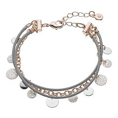 Lc Lauren Conrad Cord Textured Disc Multistrand Bracelet