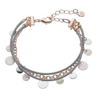 LC Lauren Conrad Cord & Textured Disc Multistrand Bracelet