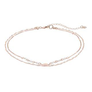 LC Lauren Conrad Leaf & Bead Multistrand Necklace