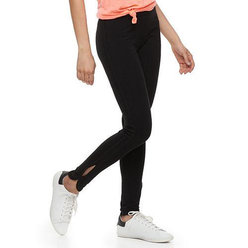 Juniors' SO® Side Slit Yoga Leggings