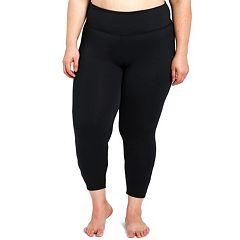 Plus Size Balance Collection Talia Strappy Capri Leggings