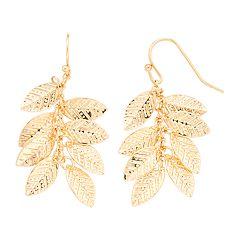 LC Lauren Conrad Leaf Cluster Drop Nickel Free Earrings