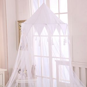 Casablanca Kids Harlequin Sheer Collapsible Hoop Bed Canopy