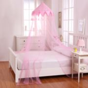 Casablanca Kids Harlequin Sheer Collapsible Hoop Bed Canopy