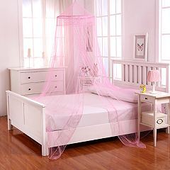Casablanca Kids Galaxy Sheer Collapsible Hoop Bed Canopy