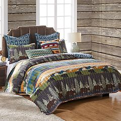 Black Bear Lodge Throw Pillow & Quilt Set