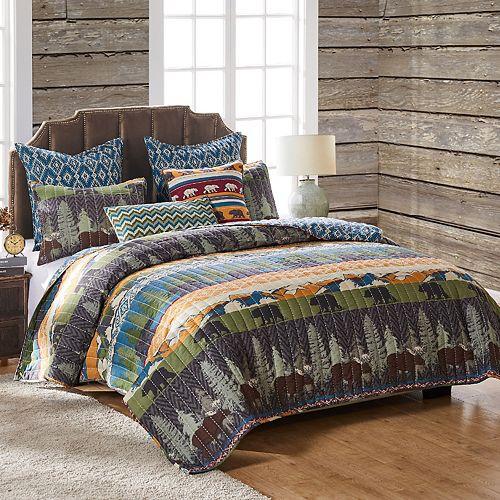Black Bear Lodge Throw Pillow & Quilt Set
