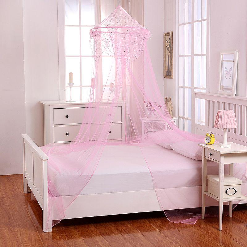Casablanca Kids Raisinette Sheer Collapsible Hoop Bed Canopy, Pink, OTHER