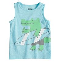 Baby Boy Jumping Beans® Heathered Graphic Tank Top