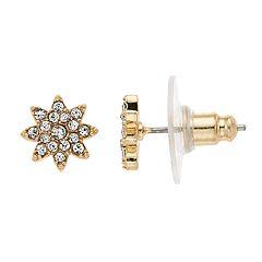 LC Lauren Conrad Simulated Crystal Nickel Free Starburst Stud Earrings