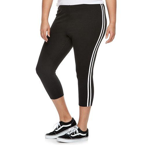 Juniors' Plus Size SO® Side Stripe Leggings