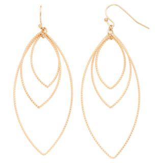 LC Lauren Conrad Textured Marquise Drop Nickel Free Earrings